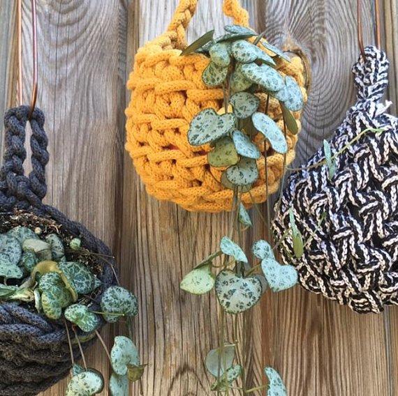 crochet kit hanging plant pot holder