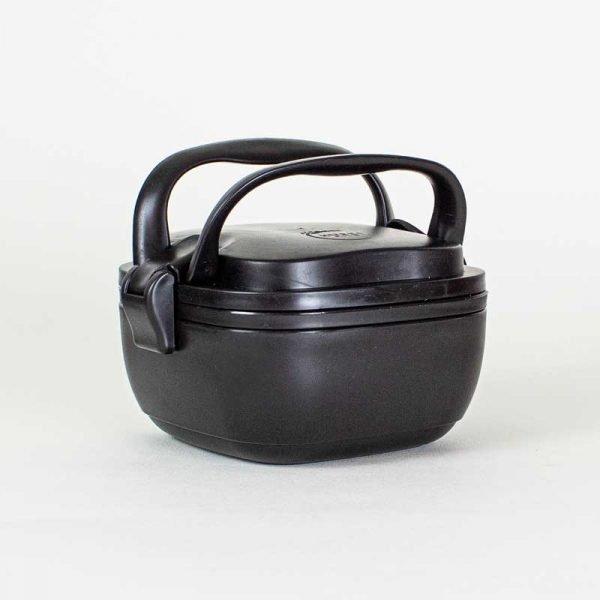 husky rice husk lunch box black