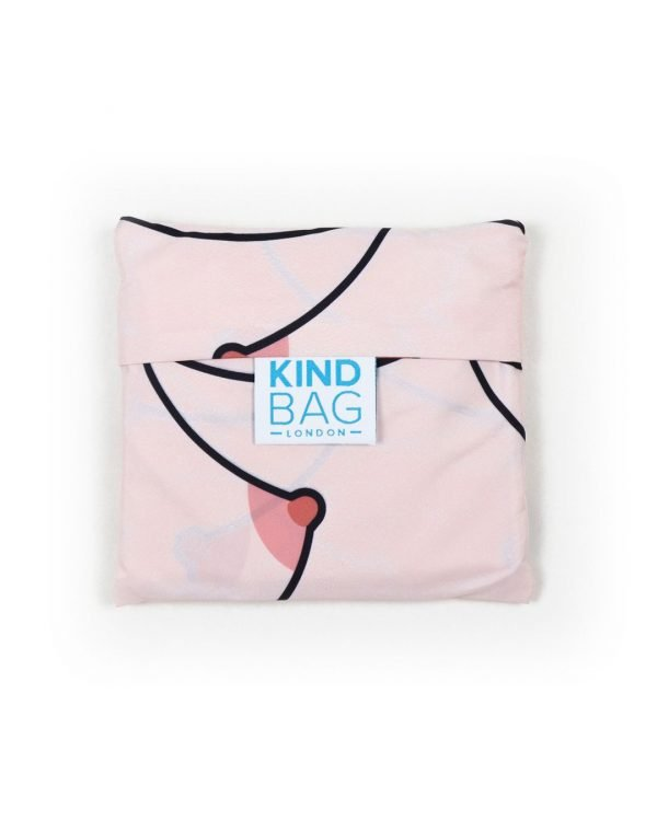 Reusable bag with boob design and pouch