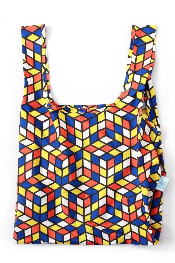 reusable shopping bag geometric design