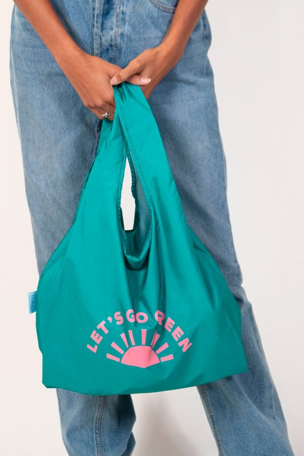 sustainable shopping bag green