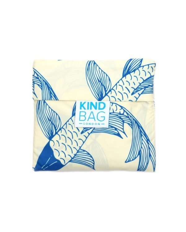 koi fish design on bag in a pouch