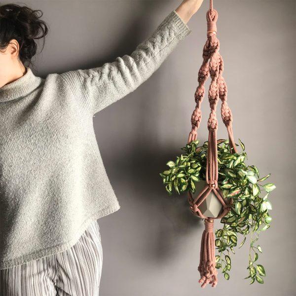 chunky macrame plant pot hanger kit