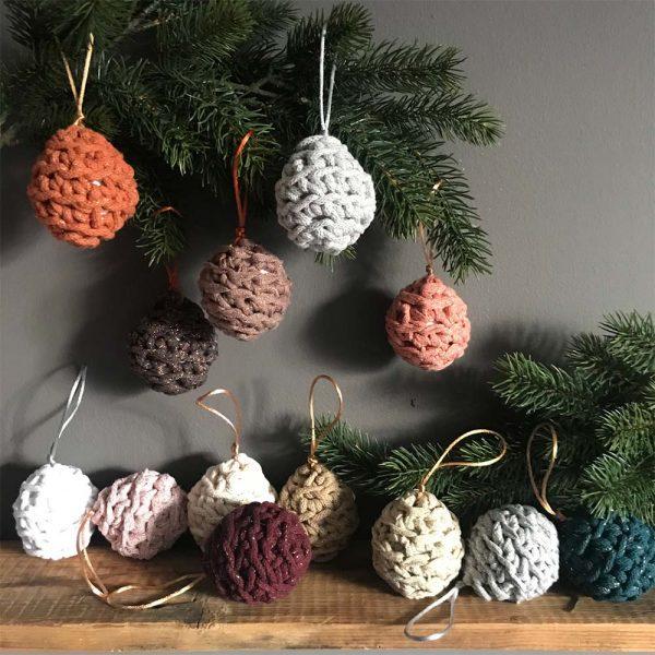 Christmas Decorations Baubles crochet