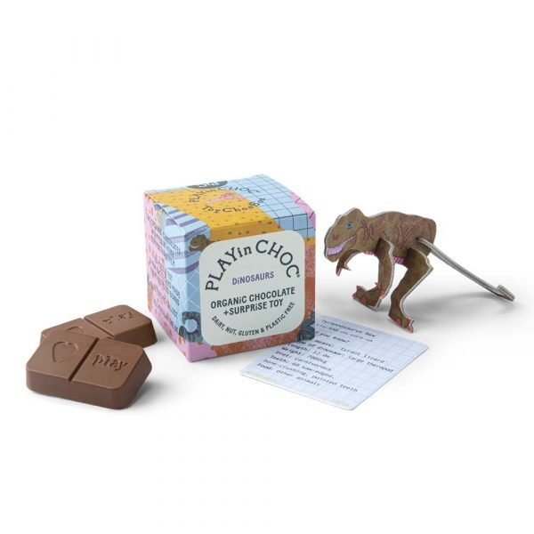 play in choc dinosaur chocolate and toy