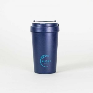 blue rice husk cup by huski