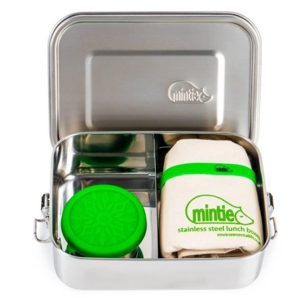 Stainless steel lunchbox with food pot and bag