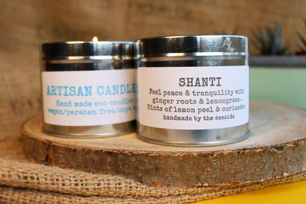 natural candles shanti fragrance