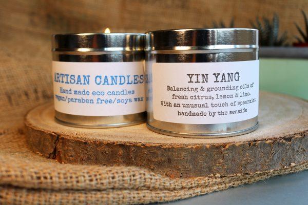 natural artisan candles yin yang
