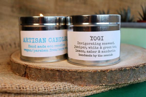 natural artisan candles yogi fragrance