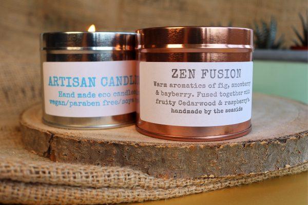 natural artisan candles zen fusion fragrance