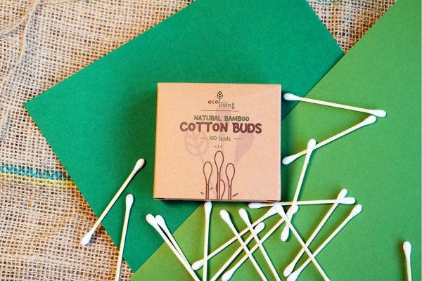 natural bamboo cotton buds