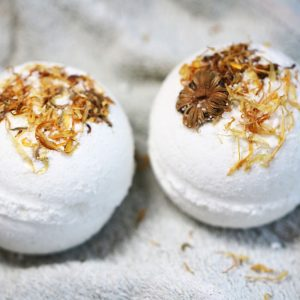 two natural cbd bath bombs