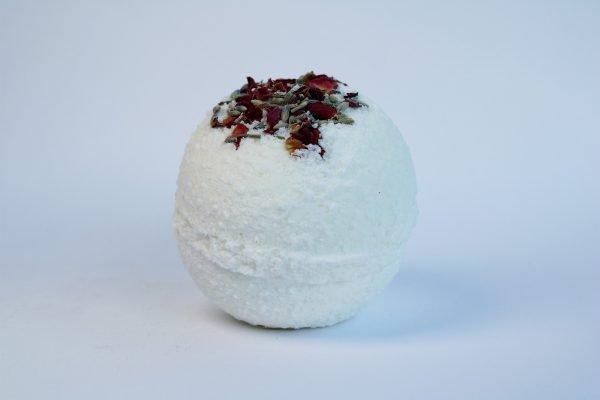 white natural bath bomb
