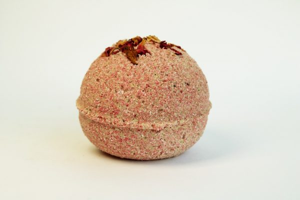 natural pink bath bomb by float spa