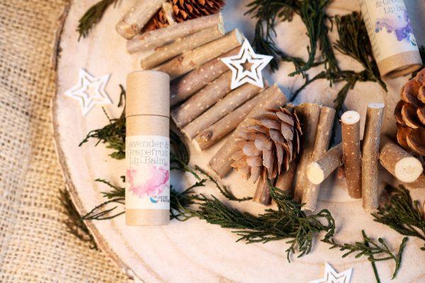 natural lavender lip balm