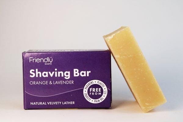 natural orange and lavender shaving bar