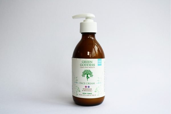 natural rosewood and patchouli face cream