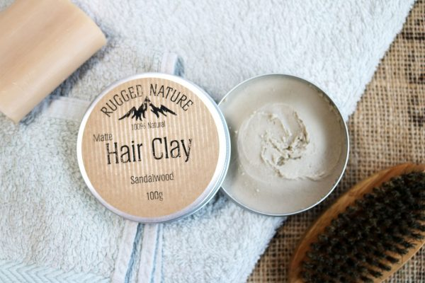 sandalwood hair clay by rugged nature