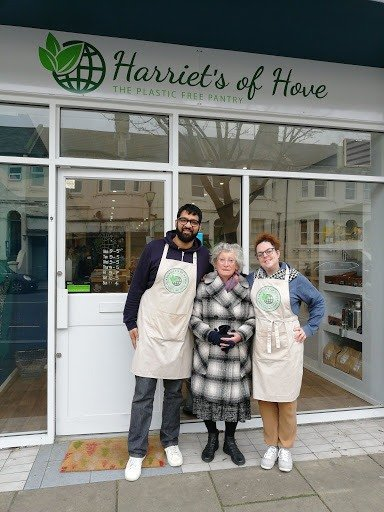 Harriet's of Hove refill shop owners
