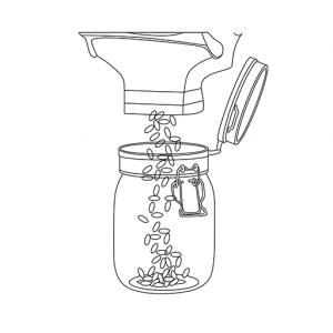 refill shop jar filling