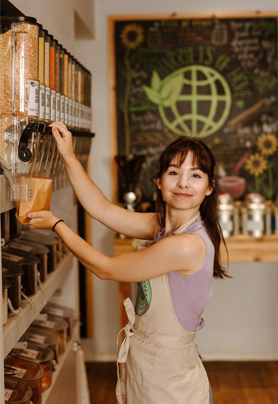 shop assistant refill store