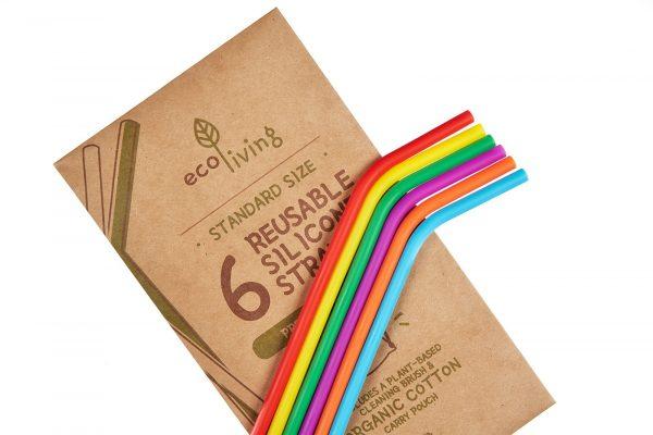 set of reusable eco-friendly straws