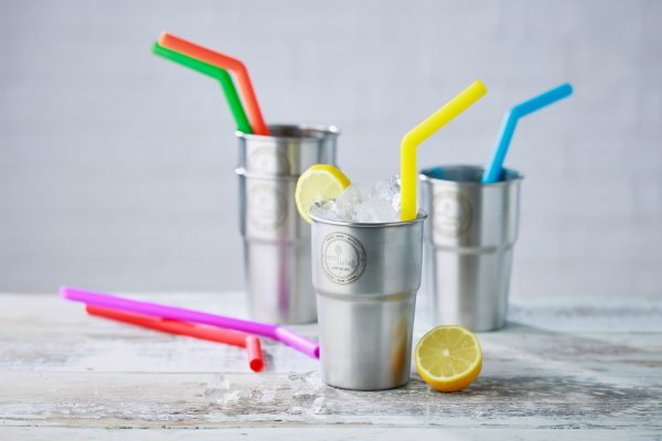eco-friendly straws in smoothie cups