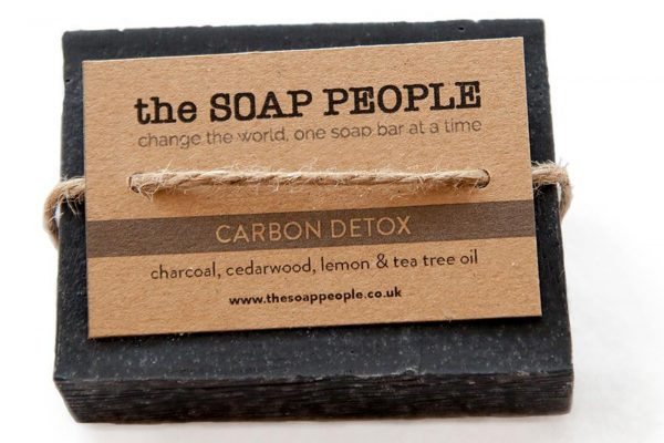 natural charcoal cedarwood and tea tree soap