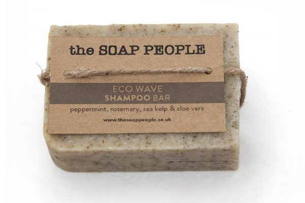 natural shampoo bar with peppermint and rosemary