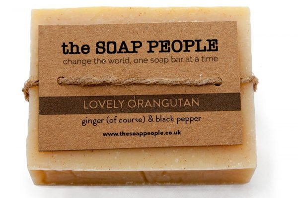 natural soap bar with ginger and black pepper