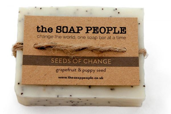 grapefruit and poppy seed soap bar