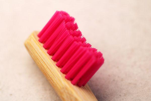 head of bamboo toothbrush