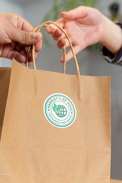 harriet's of hove paper bag