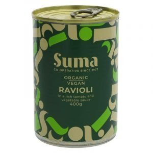 can of organic vegan ravioli