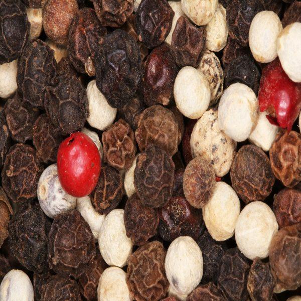 mixed whole peppercorns
