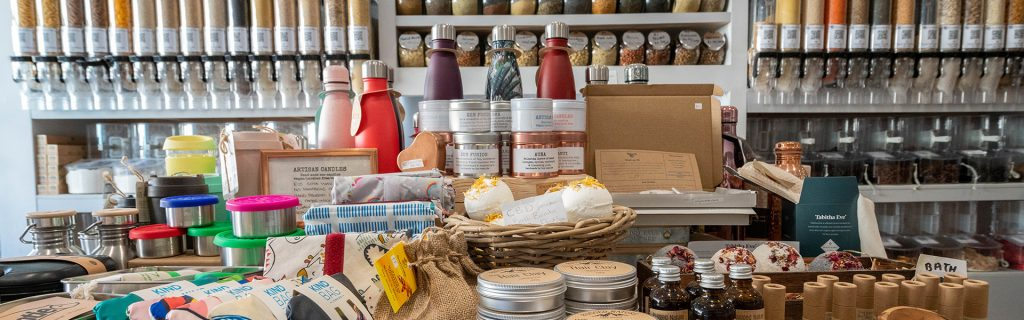 plastic free refill shop products