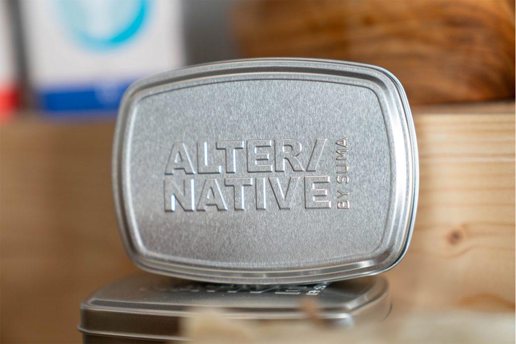 alternative tin by Suma