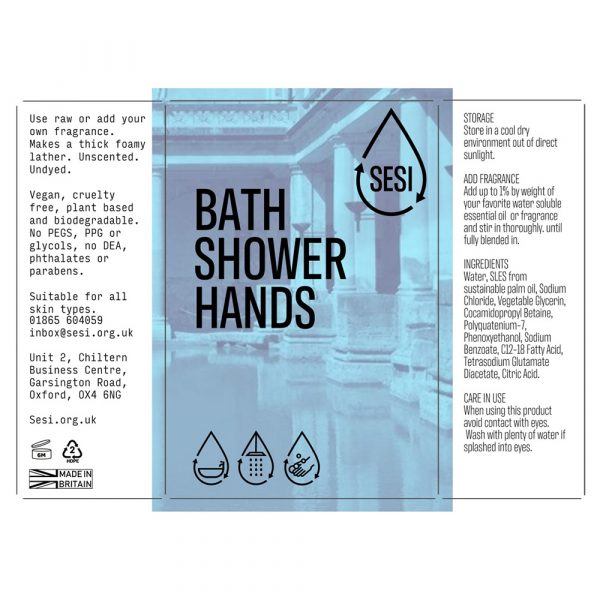 eco-friendly bath shower and hands wash