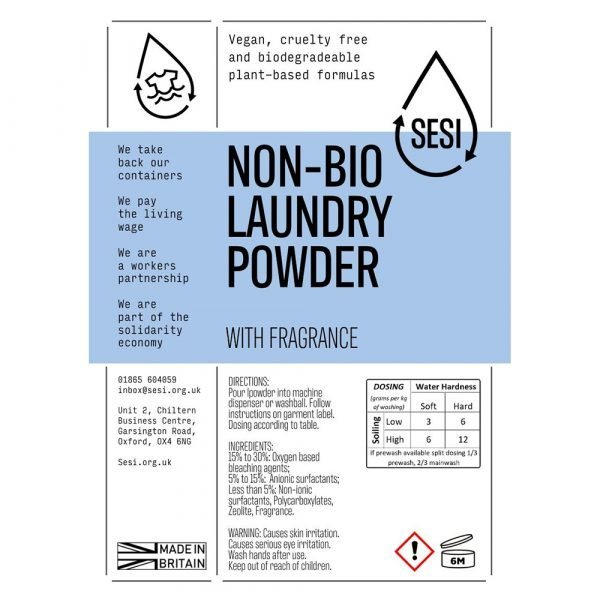 eco-friendly non bio laundry powder