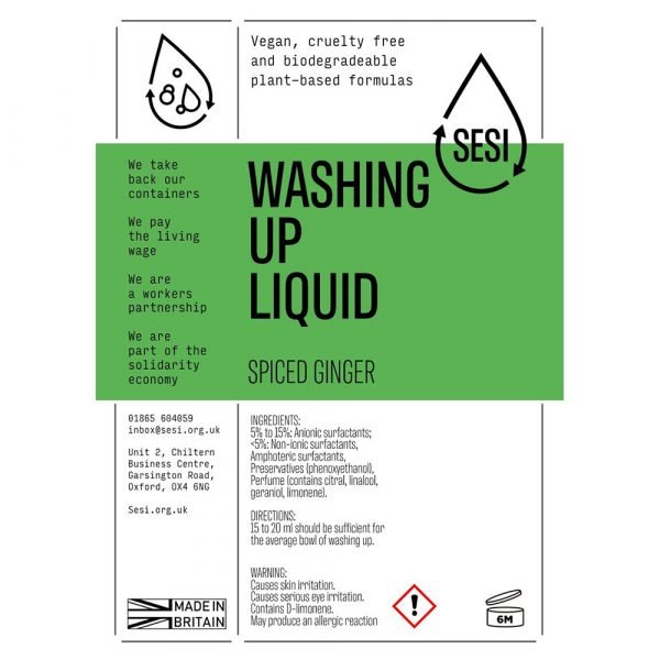 eco-friendly washing up liquid