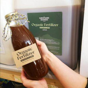 Organic Seaweed Fertilizer in a bottle