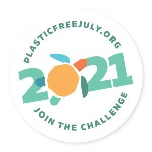 plastic free July 2021 badge
