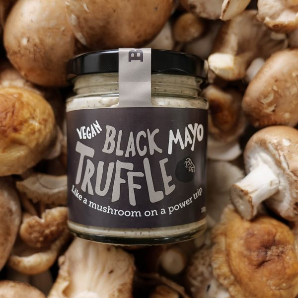 black truffle vegan mayo by Be Saucy