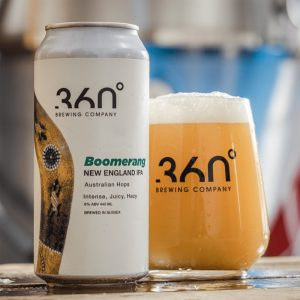 Boomerang beer from 360° Brewery