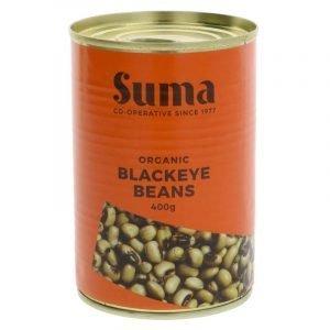 tin of organic black eye beans