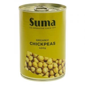 tin of organic chickpeas