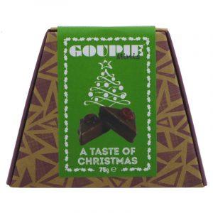 A taste of Christmas Goupie Vegan Chocolate
