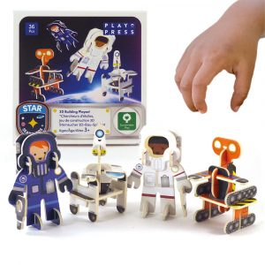 Astronauts and Robots play set by playpress
