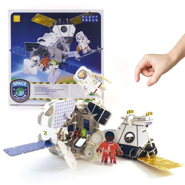 eco friendly space station toy playset